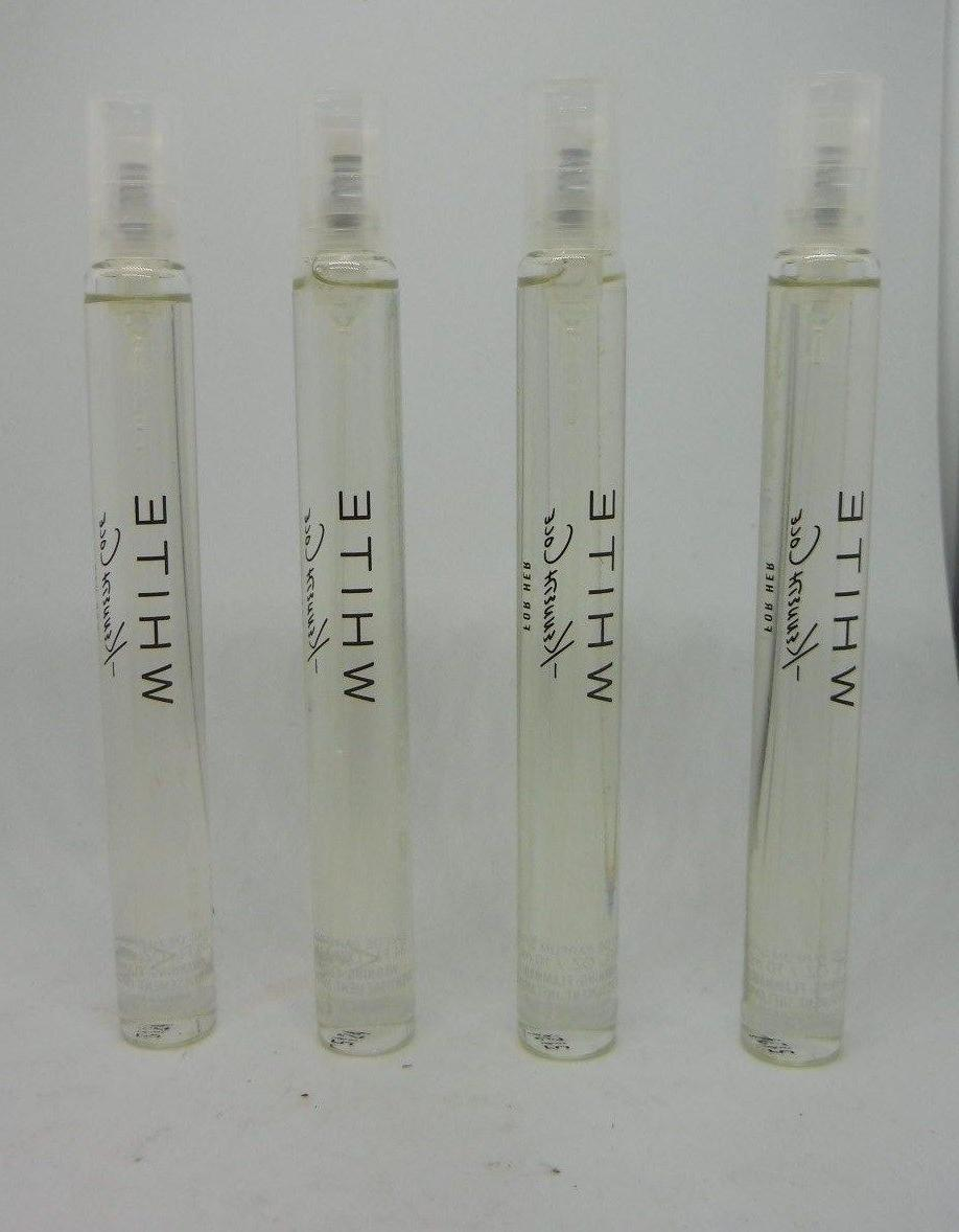 4 Kenneth Cole WHITE For Her EDP Spray .34 oz Each