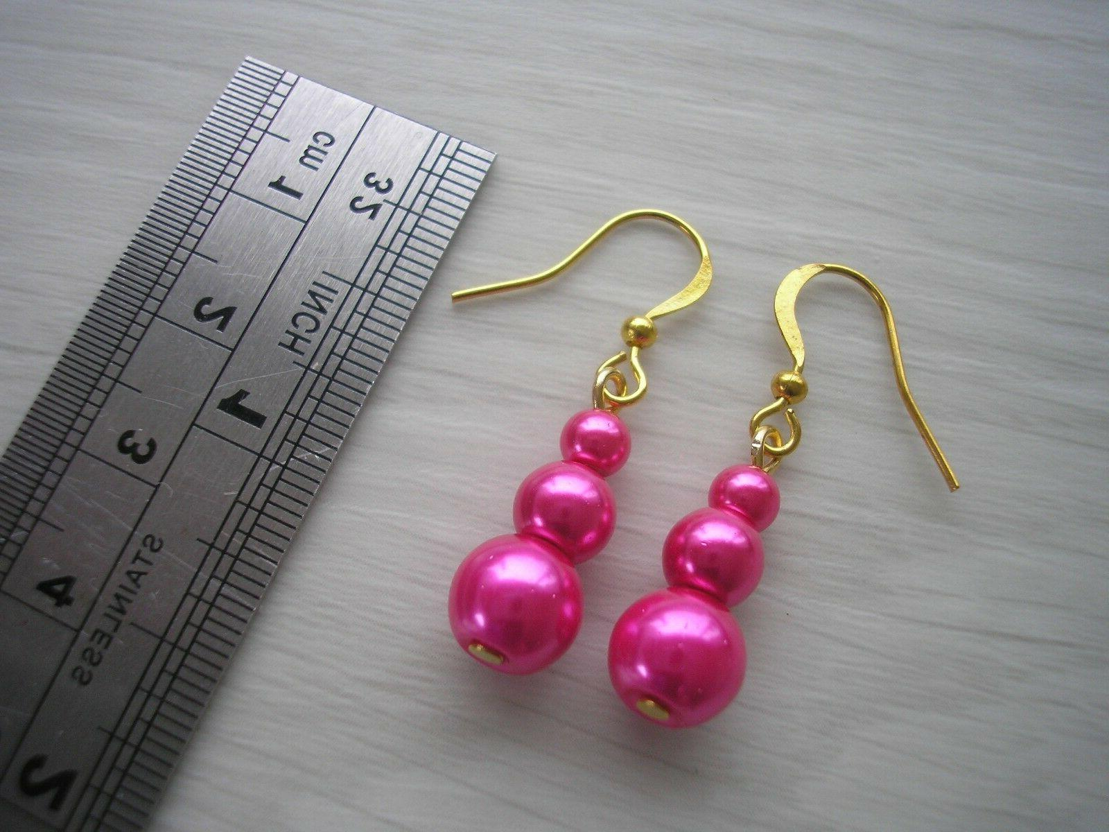 45e Pearl Earrings her Party Gift