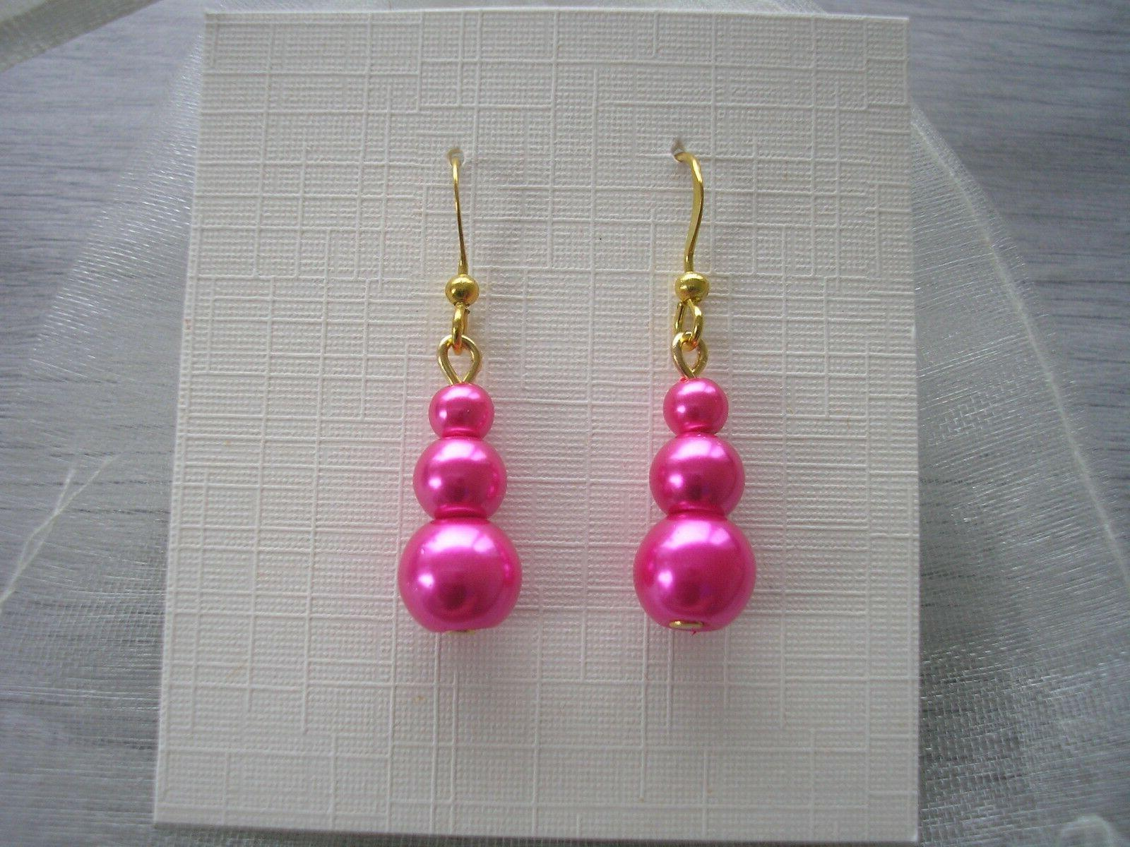 45e Pearl her Bridal Party Drop Dangle