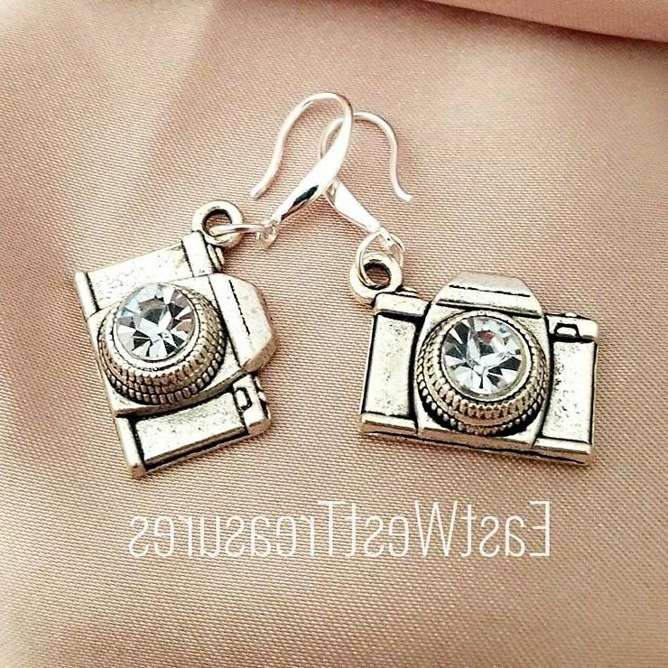 925 Silver Royal Camera Photography Photographer drop earrin
