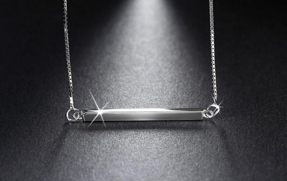 925 Bar Necklace Pendant