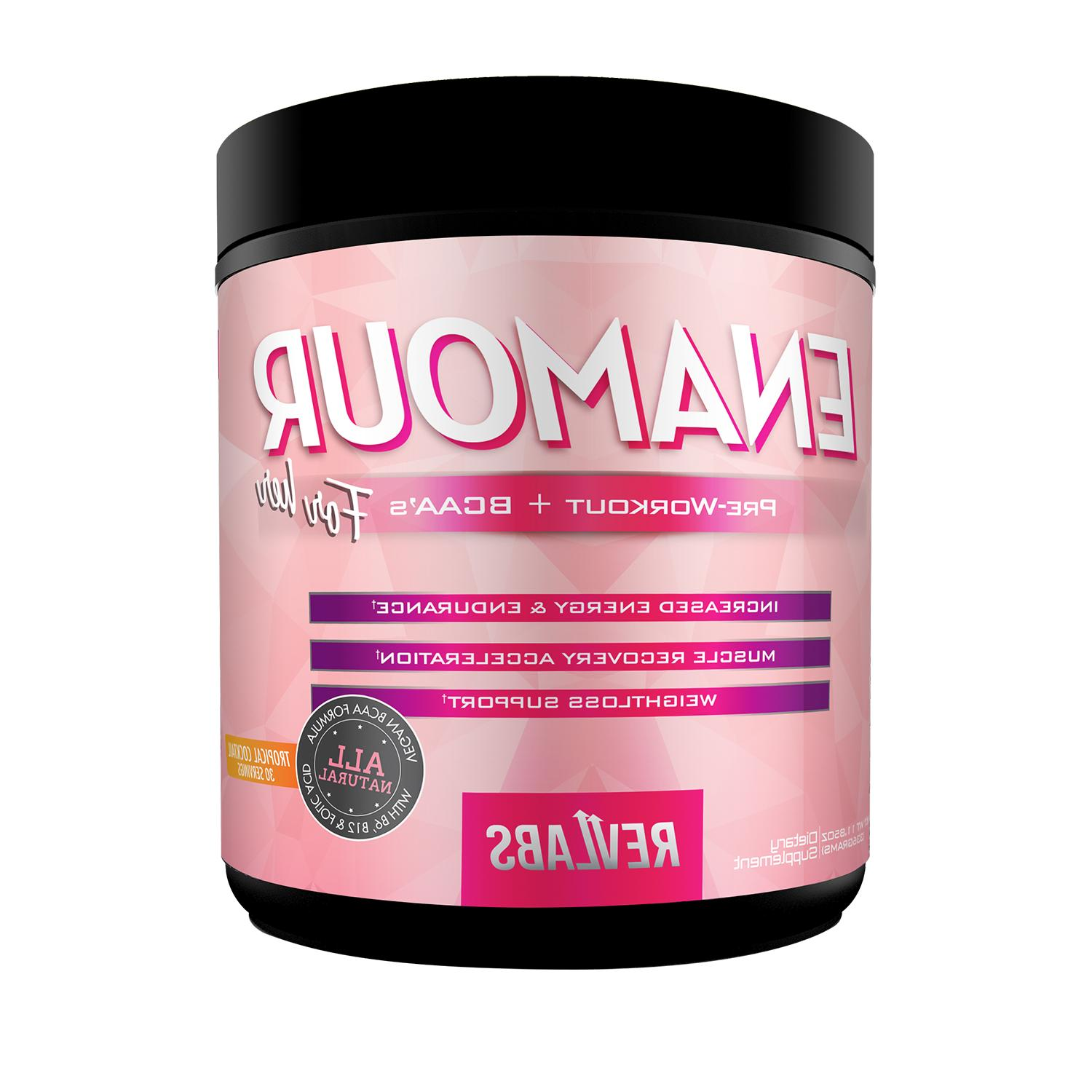 RevLabs ENAMOUR Pre-workout For Her, 3-in-1 with added BCAA,