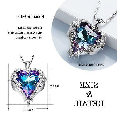 Angel Wings Heart Love Crystals Jewelry For Her Gift