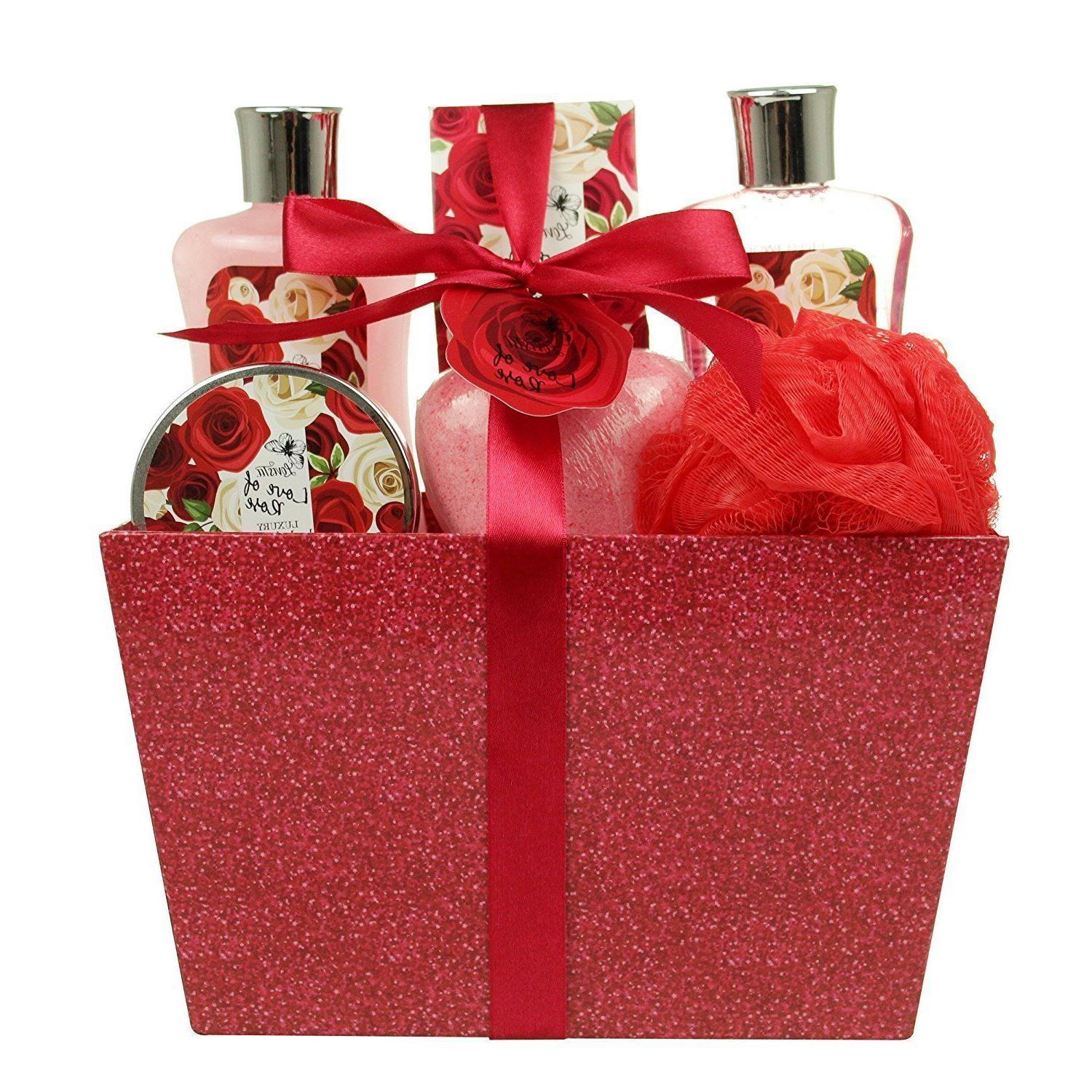 Birthday Valentines Gift for Her Spa Basket Bath & Body Love