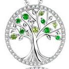 "Anniversary Gift for Her"" The Tree of Life"" Created Emerald"