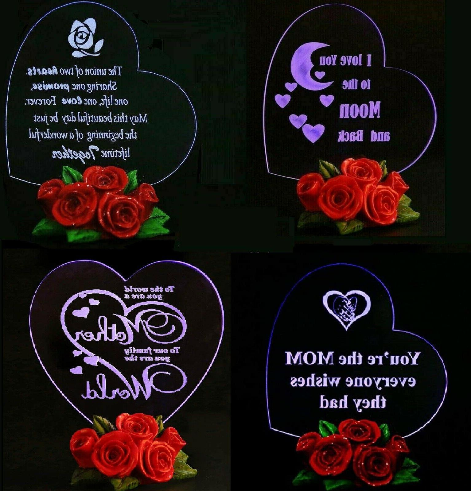 birthday gift for her led light heart