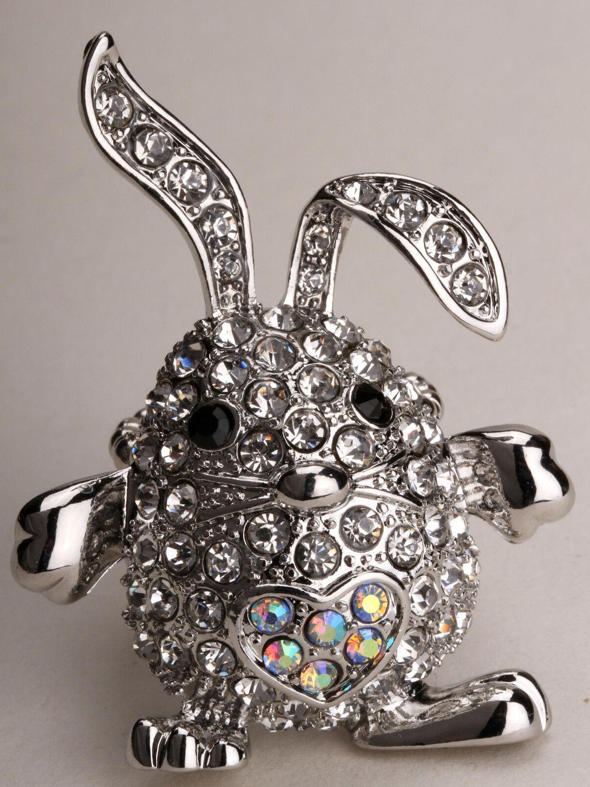 Bunny rabbit stretch ring easter jewelry gifts costume decor