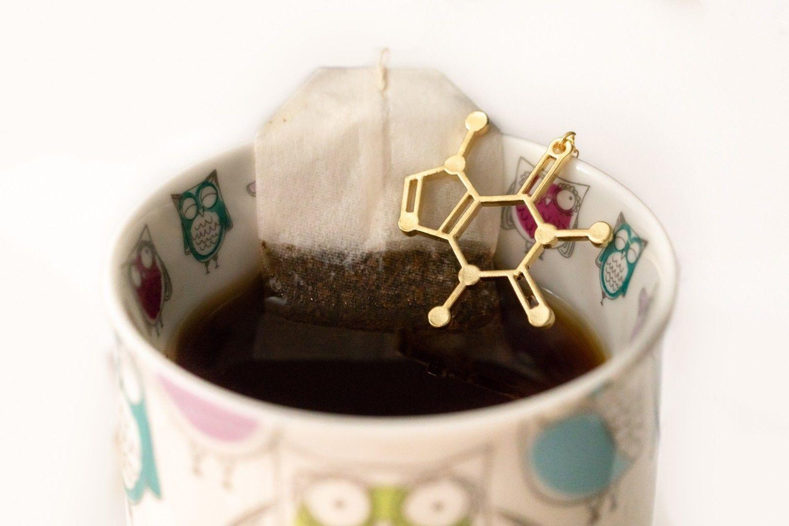 Caffeine Molecule Necklace | For Women's Necklace