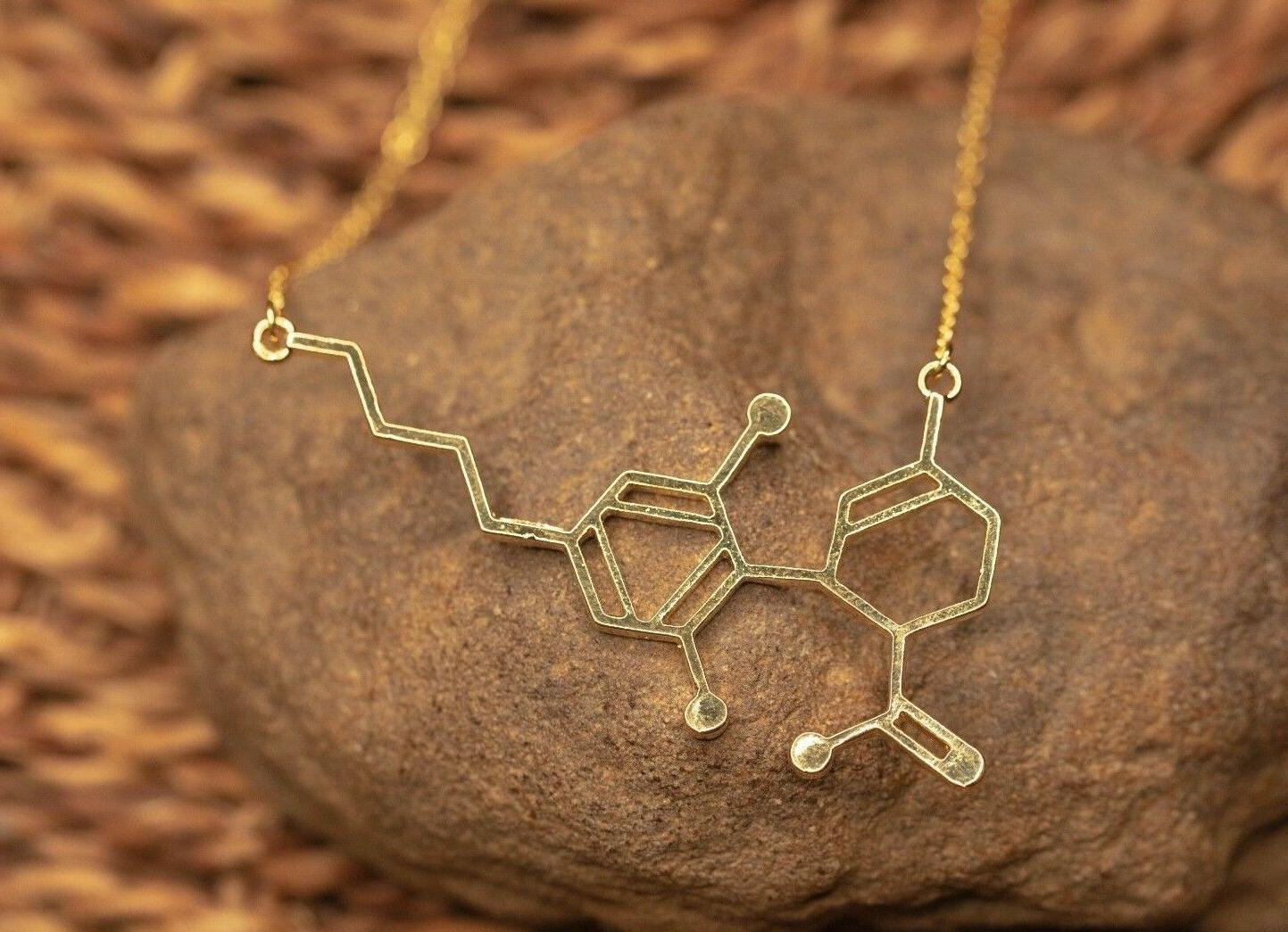 CBD Pendant Necklace | Women's Nerdy Gift For