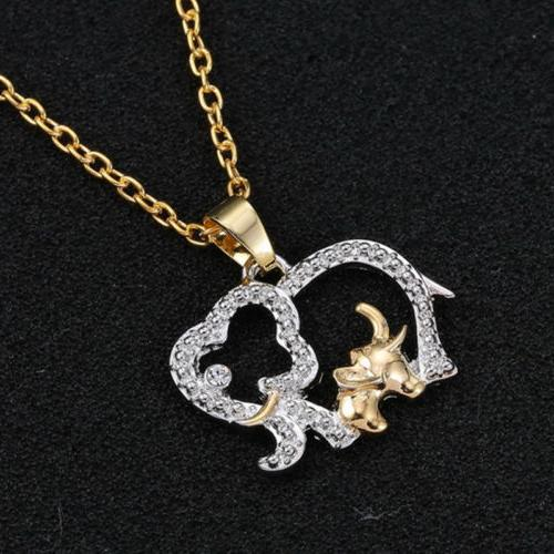 Cute Crystal Elephant Necklace