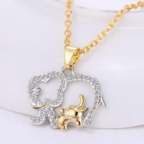 Cute Day Elephant Chain Charm Necklace