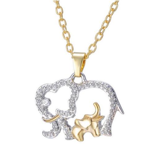 Cute Mother's Day Crystal Elephant for Mom Necklace