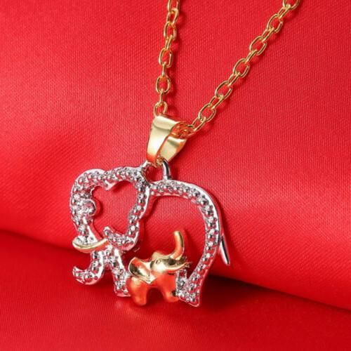 Cute Mother's Elephant for Mom Pendant Necklace