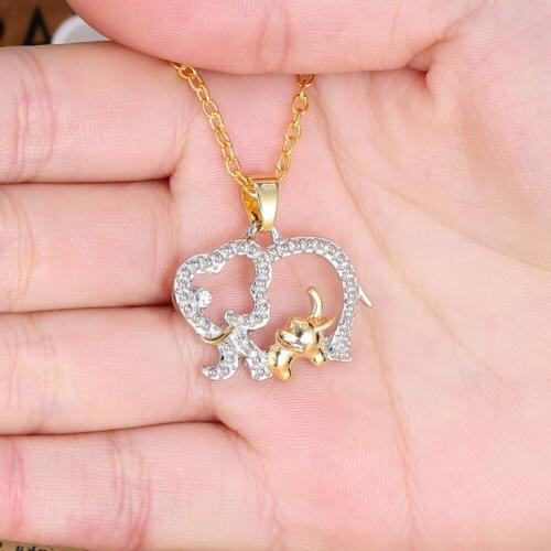 cute mother s day crystal elephant chain
