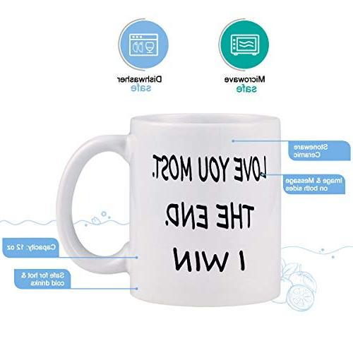 Coffee Love Most The End I Win Mug Cup Novelty Cup for Day Wedding