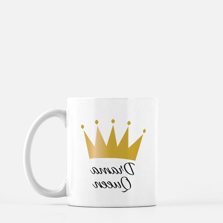 Crown White Coffee mug, gift and friend