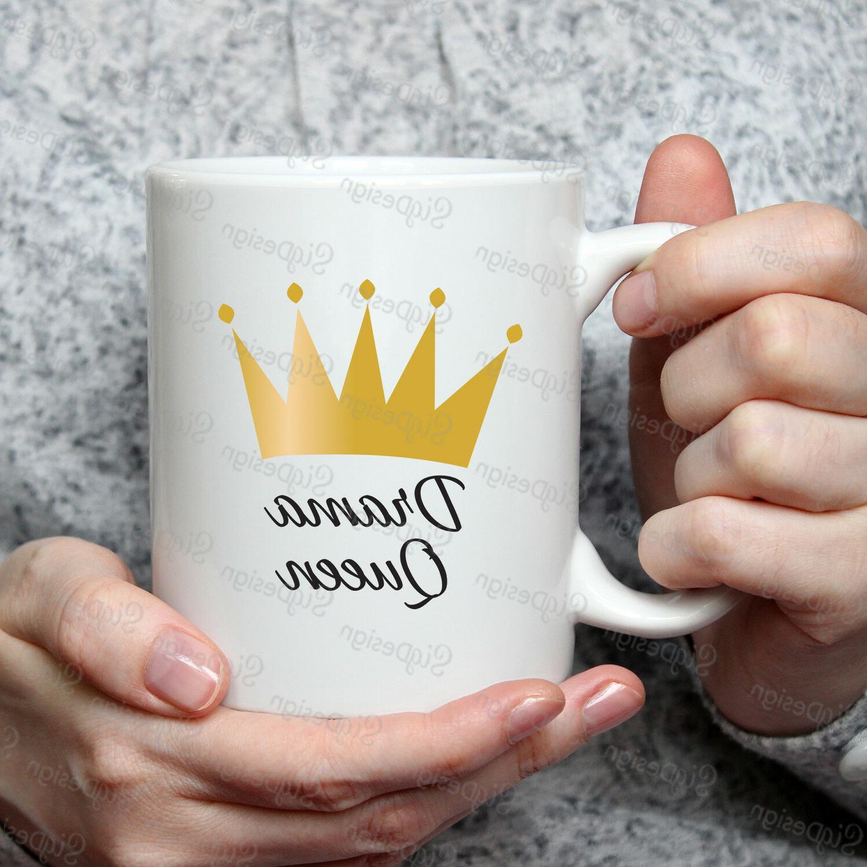 crown drama queen 11oz white ceramic coffee