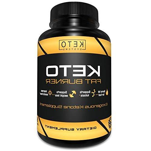 Keto Pills - Fat Burner Keto Loss Supplement for Shark Tank Advanced Salts Energy Pills Rapid