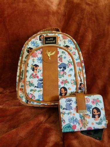 disney pocahontas backpack and wallet