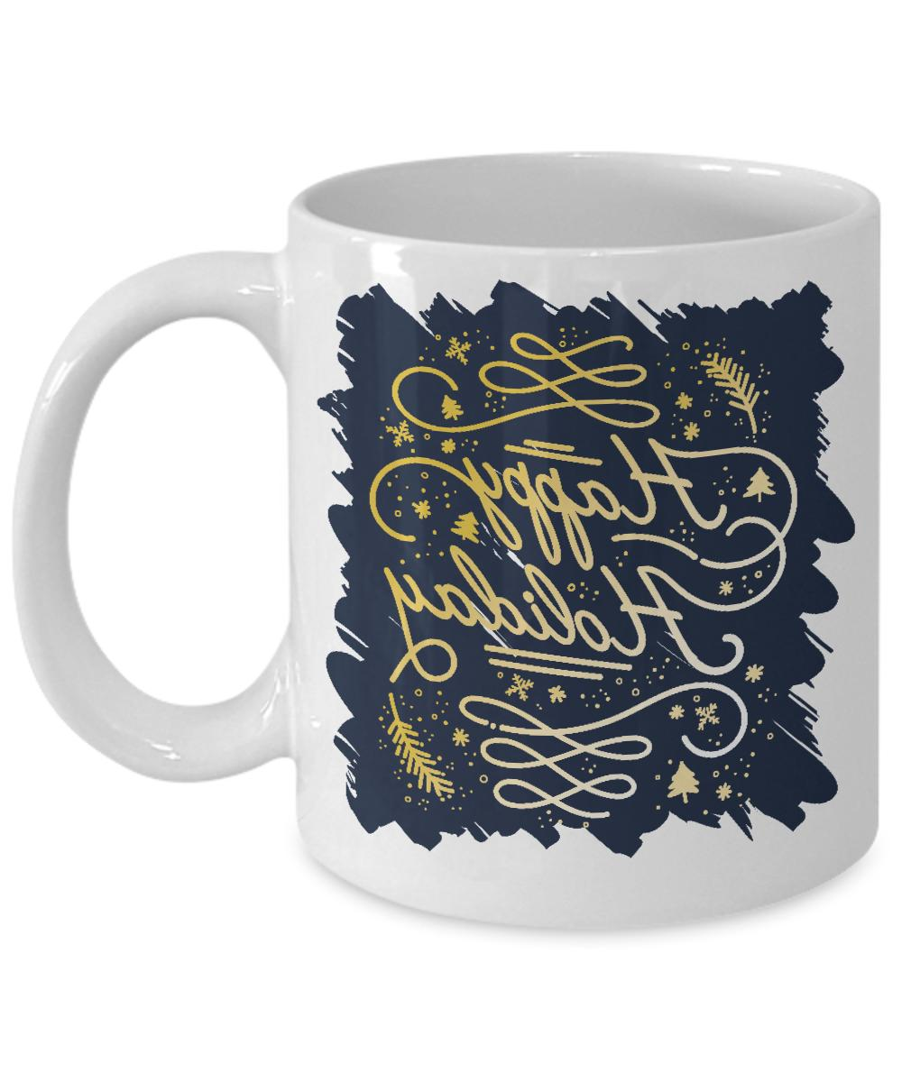 Family Christmas Happy Holiday Greetings Novelty Coffee Gifts Her