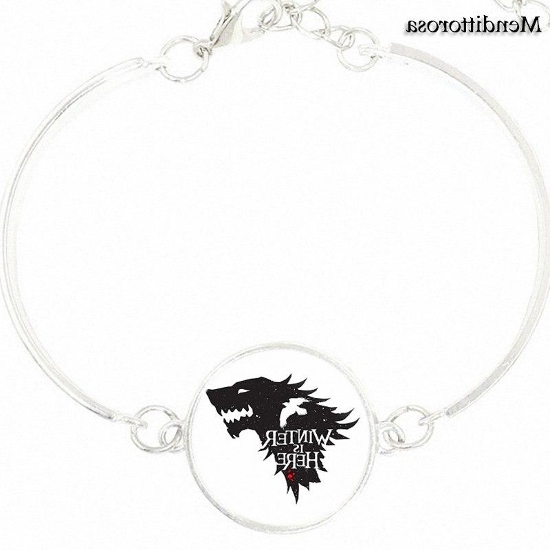 <font><b>For</b></font> Necklace Bangle With Silver Plated Bracelet Bangle Ice Fire Of Stark