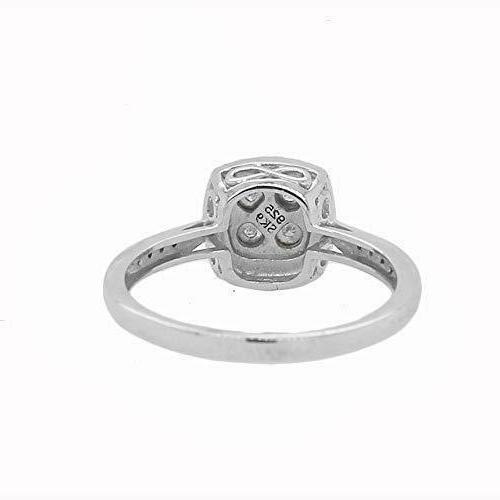 Genuine Diamond In Silver Jewelry Women Gift For