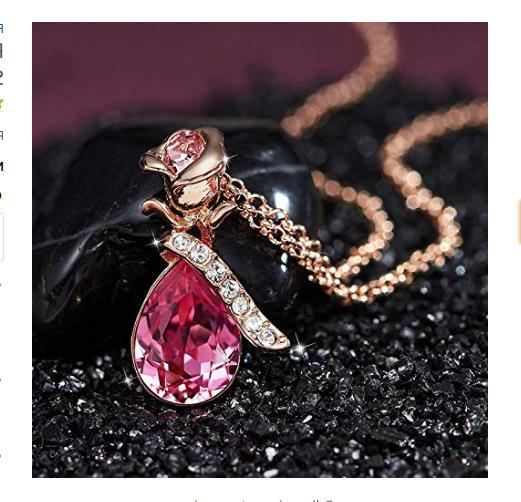 Gift Women Girls Necklace 18K Anniversary