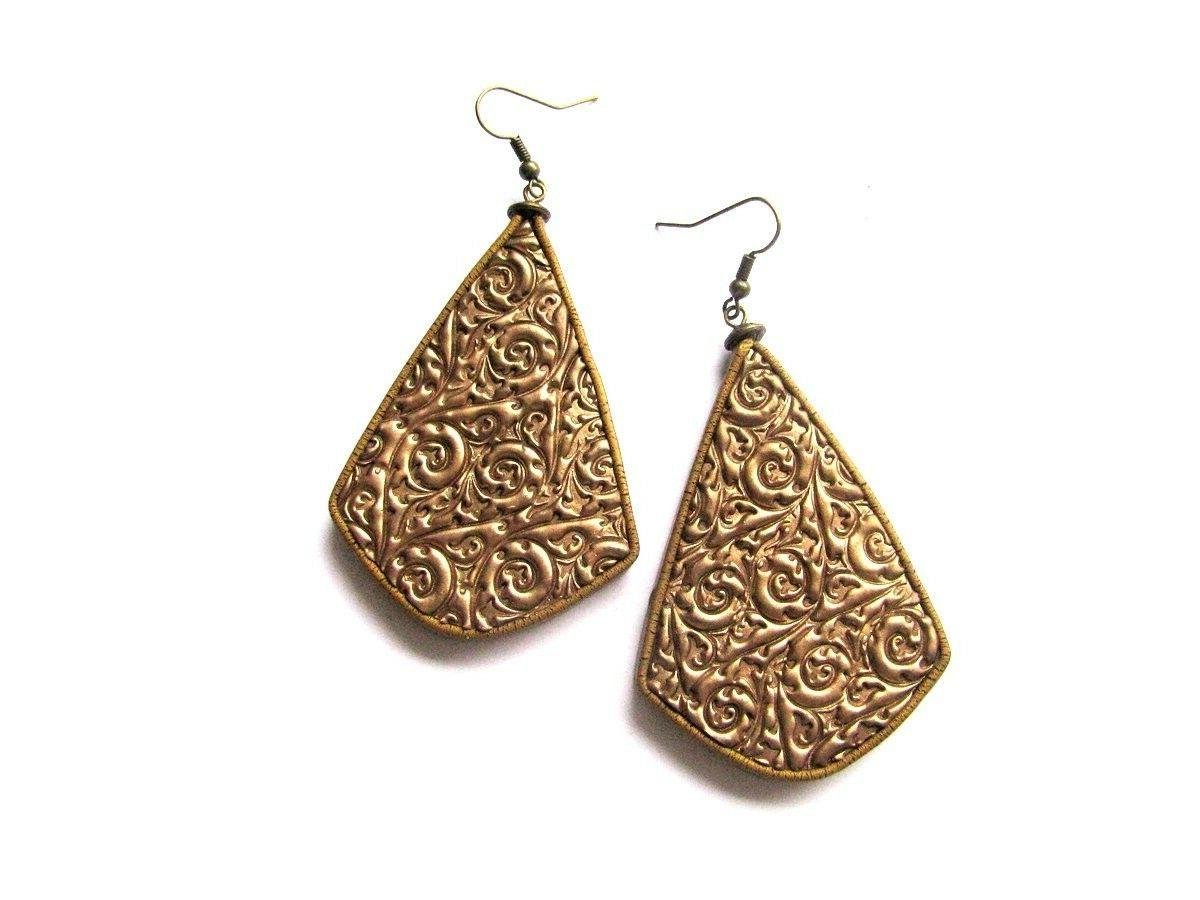 Gold Drop Handmade Women Earrings Bohemian Style Gift Dangle