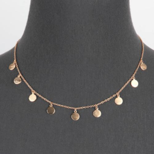 gold multi disc charm necklace women s
