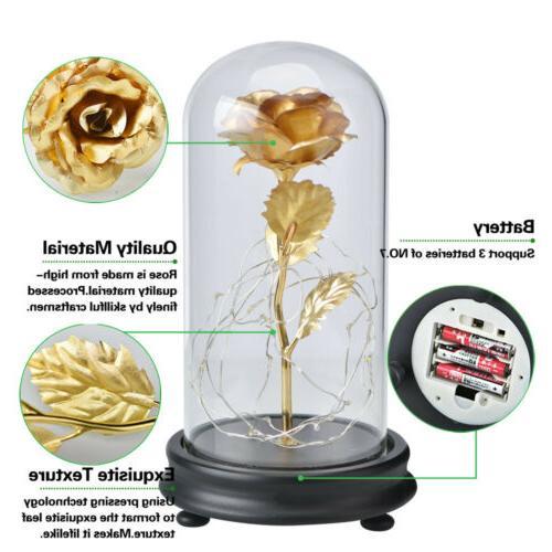 WR Gold Glass Lamp Lighted Golden Christmas For