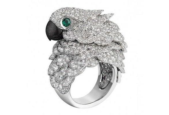 green women s parrot bird rings fashion