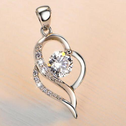 Heart 925 Pendant Necklace for Girlfriend Wife Mum