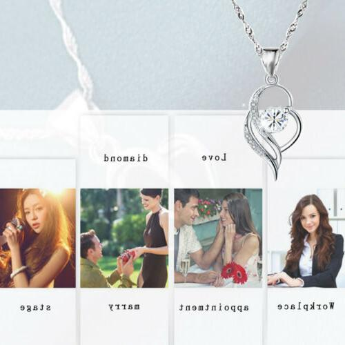 Heart Necklace Girlfriend Wife Mum