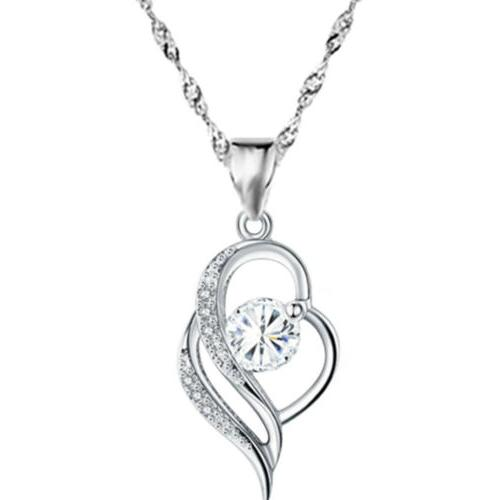 heart 925 sterling pendant necklace gift