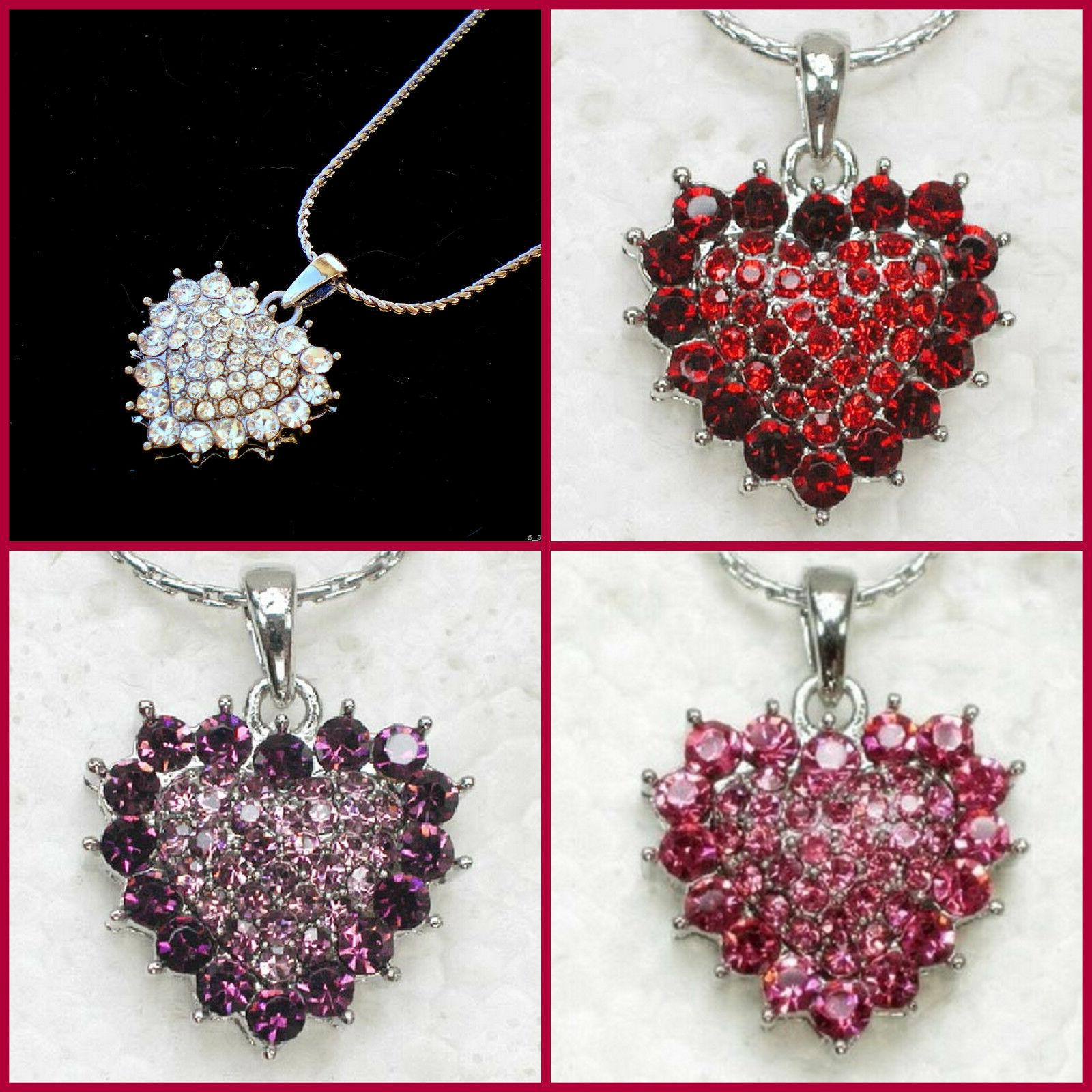 heart necklace happy mothers day birthday gift