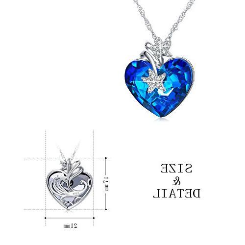 ANCREU Ocean Love Pendant Necklaces Women Crystals