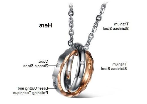 His & Hers Set Titanium Couple Love Style a Gift