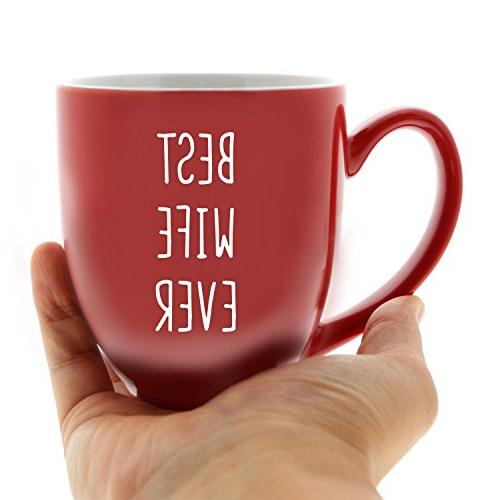 Best Red Bistro Mug Quotes for Mom's Coffee Mugs Wife Ideas for Christmas Novelty Printed Coffee