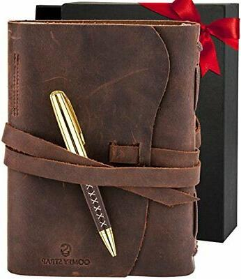 leather journal bound notebook for men