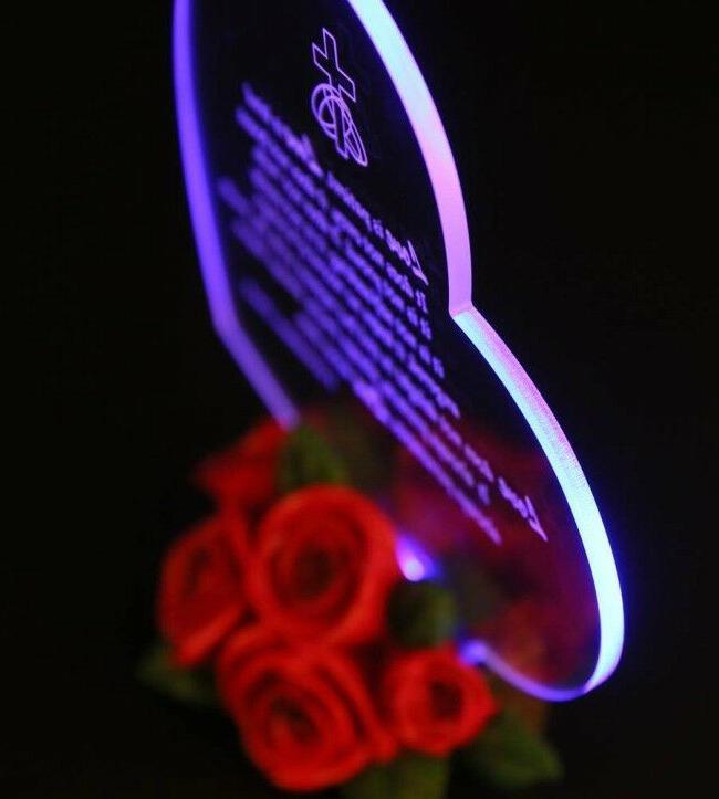 LED Light Anniversary Gift For Her Him Wife Men Love Souvenir Present