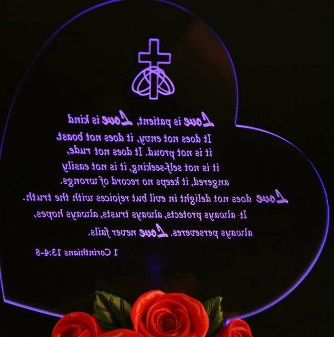 LED Anniversary Men Love Souvenir Present