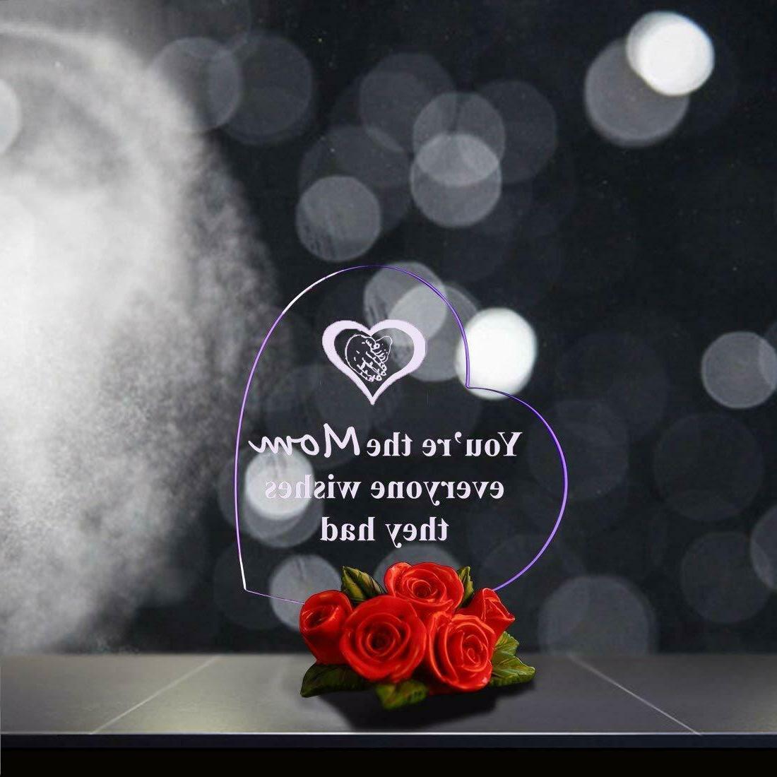 LED Rose Base Gift Her Birthday