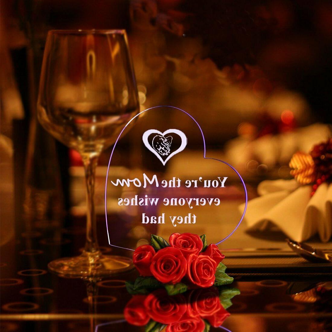 LED Light Heart Rose Base