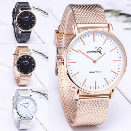 Luxury Geneva Women Watch Stainless Steel Analog Quartz Wris