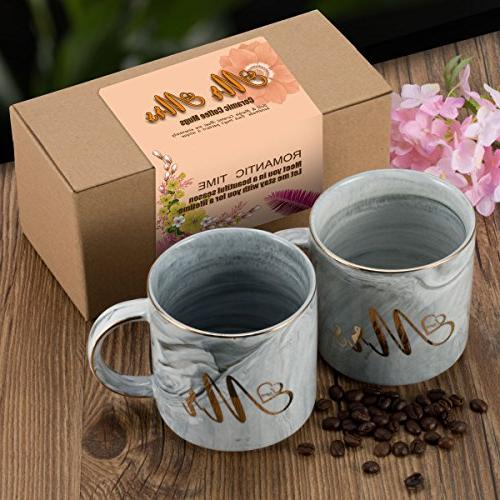 couple mug/ceramic coffee gift CV, each with