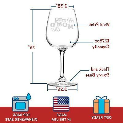 Mom'd Wine Glass Gifts Premium Gift