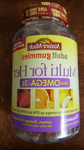 Nature Made Multi Her Plus Omega-3 Adult Gummies,