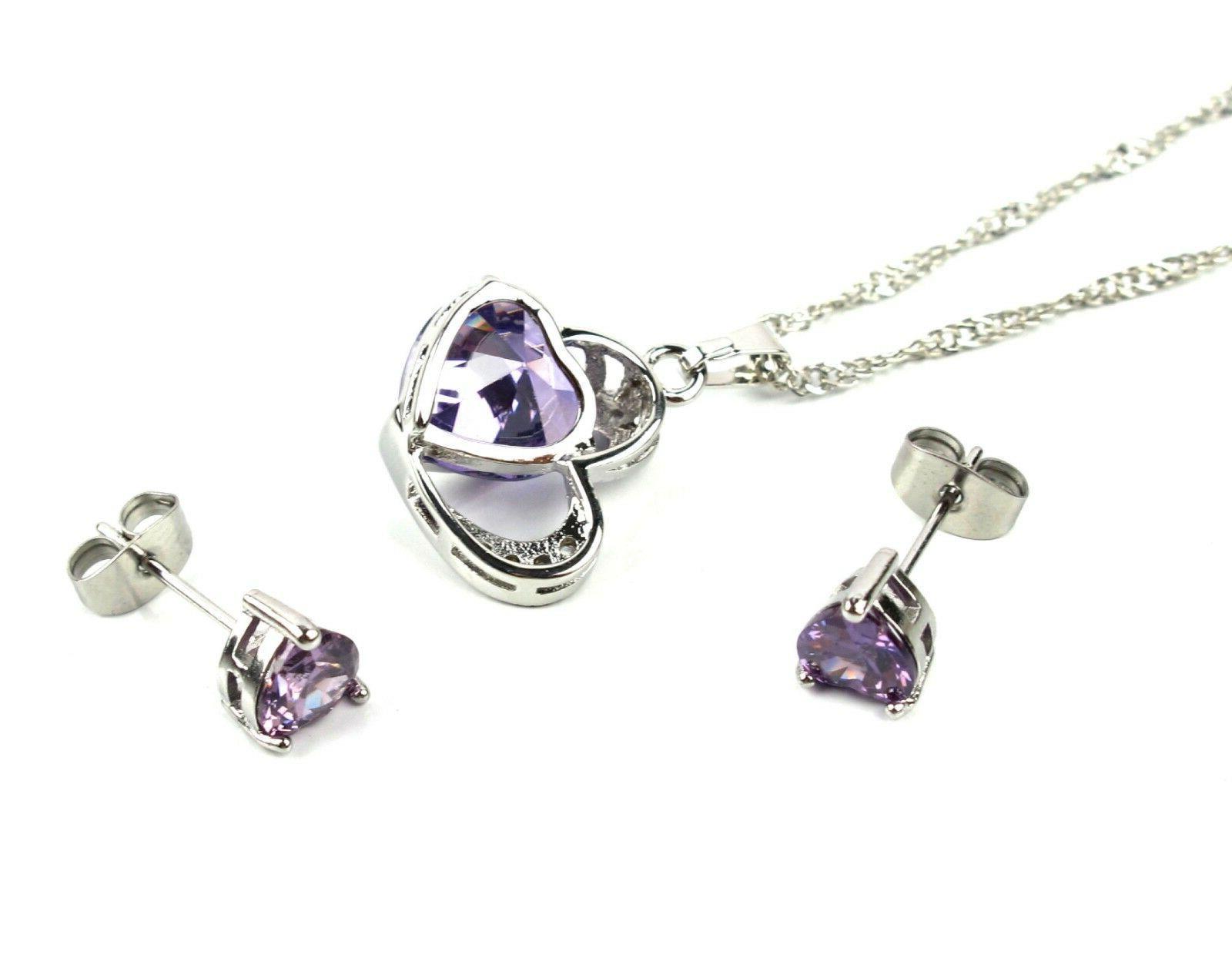 Her Girlfriend Heart Pendant Necklace Earrings