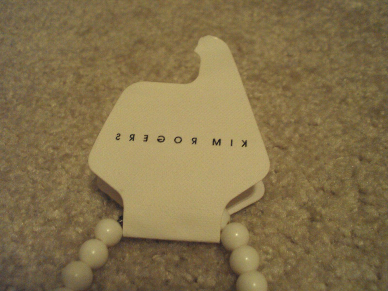White Kim Rogers Necklace/ Gifts Her