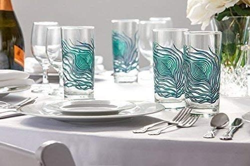 Peacock Feather - Set of 2 Glasses, Everyday